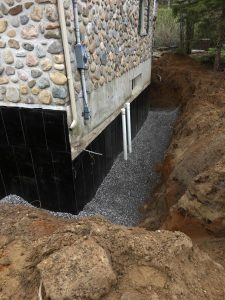 Réfection d'un drain de fondation